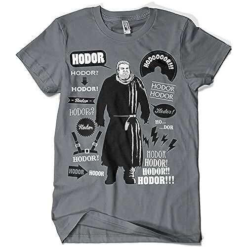 dia del orgullo friki 396-Camiseta SoftStyle Juego De tronos - Hodor Famous Quotes (Olipop)