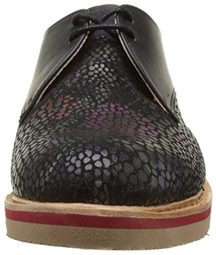 Neosens S924 Fantasy Floral Noir Albilla, Chaussures À Lacets Low Derby Femme Noir (floral Noir)