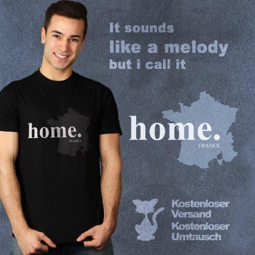 home.France - Herren T-Shirt von Kater Likoli Deep Black