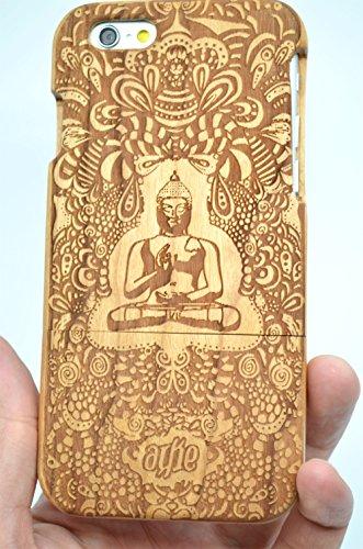 iPhone 6S (11,9cm) Holz Fall-Premium Qualität natürliches Holz Fall für Ihr Smartphone und Tablet-von volksrose (TM), Cherry Wood Indian Buddha -