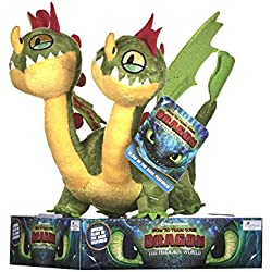DreamWorks 12436 How to Train Your Dragon 3 Barf and Belch - Peluche (32 cm)