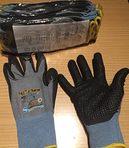 12 paires de gants de travail Hitflex – gants finement tricotés Taille 9