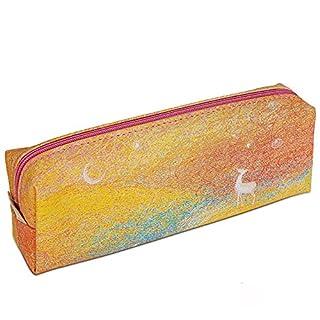 Pencil Case Creative elk Multifunctional Pencil Holder Travel Makeup Bag (STYLE 3# yellow)