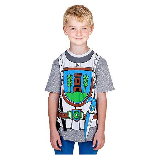 Ritter-erwachsenen T-shirt (Kid's Shirt Ritter T-Shirt Turm grau, Größe 116)