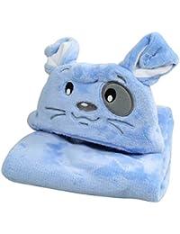 Happy Cherry – Sortie de bain à capuche avec 3D animal en double Molleton – Peignoir de bain pour bébé fille garçon 96*76 cm – couleur disponible