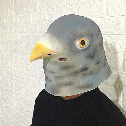 aube Latexmaske Niedlichen Tier Headset Cartoon Kosmetische Ball Witze Zeigen Großhandel @ Graue Taube ()