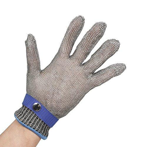 Anself guanti antitaglio in acciaio inox protezione alta prestazione, livello alimentare
