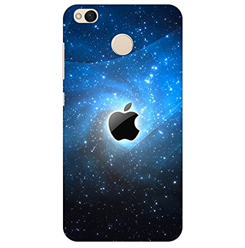 Pattern creations Apple Mac Brand Logo Heaven Stars Space Printed Designer Slim Light Weight Back Cover for Mi Redmi 4 Back Case, A630650