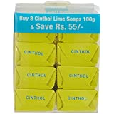 Cinthol Lime Soap, 100g (Pack Of 8)