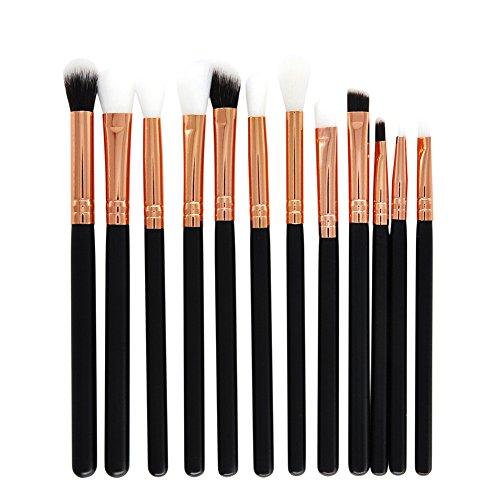 Scrox 1x (12 pcs) Oeil Combinaison de pinceaux de Maquillage Professionnel Pinceaux fards à paupières Outils de Maquillage 15cm