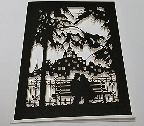 Fait à la main Laser Cut Cartes -- Amour ---- présentée par Sterling Effectz