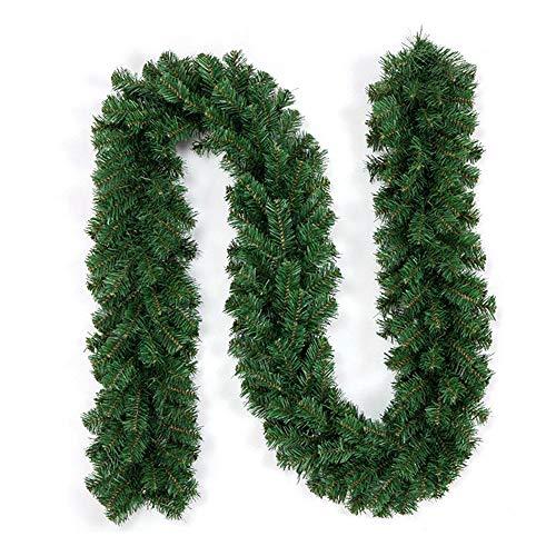 Enjoygoeu Tannengirlande Weihnachtsgirlande 2.7M Grün Künstliche Tannen Girlande Weihnachtsdeko Innen Aussen Weihnachtensdeko DIY für Treppen Wand Tür