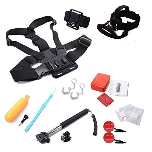 XCSOURCE® 12 in 1 Underwater / Water sports Accessories Set Telescoping Monopod + Chest Strap + Head Strap + Wrist Strap + Floating Hand Grip Monopod + Case Backdoor with Foam + Anti Fog Inserts + Insurance Tether with 3M adhesive + Locking Plug for GoPr