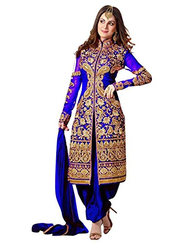 Fliponn-Blue-Color-Party-Wear-Embroidered-Georgette-Semi-Stitched-Salwar-Suit-FNG634DLBLUEKR