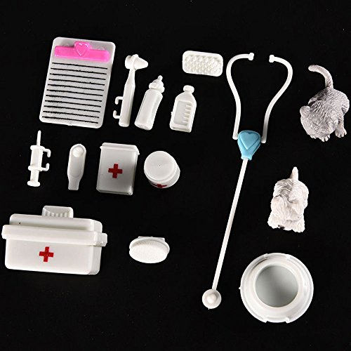 Papamsy Eine Reihe von Puppenzubehör Medical Kit Spielzeug Haustiere Krankenschwester Arzt Werkzeug Instrumente (Elektronische Krankenschwester)