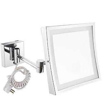 xiangyang kosmetikspiegel led beleuchtet mit 3 facher vergr erung und 360 schwenkbar. Black Bedroom Furniture Sets. Home Design Ideas