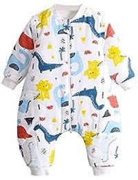 Saco de Dormir para Bebés 3 Tog, Saco de Dormir Niños Pequeños con Mangas Desmontables
