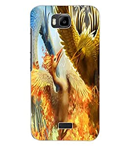 ColourCraft Dragon Fight Design Back Case Cover for HUAWEI HONOR BEE
