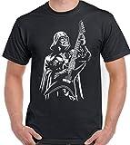 T-shirt amusant de Dark Vador jouant de la guitare - Pour homme, noir, CL