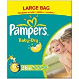 Pampers Baby Dry taille 6 + (16 + kg) Grand Large Plus Extra Pack 3x36 par paquet