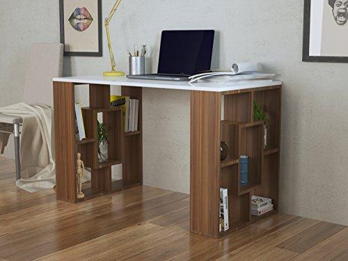 NOVA Scrivania - Scrivania per computer - Scrivania ufficio - PortaPC - Tavolo per Computer (Ufficio Noce Scrivania)
