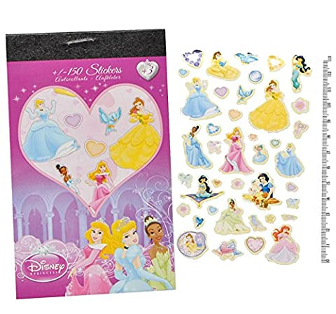 150tlg. XL - Set Sticker / Aufkleber - für Mädchen - Disney Minnie Mouse Pooh Tinkerbell Princess bunt / z.B. für Stickeralbum Stickerblock - Stickerbuch