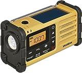 Sangean MMR-88 tragbares Kurbelradio (UKW/MW-Tuner, Taschenlampe, Notfall-Signalton, integrierter Li-Ion-Akku, Kopfhöreranschluss) gelb/schwarz