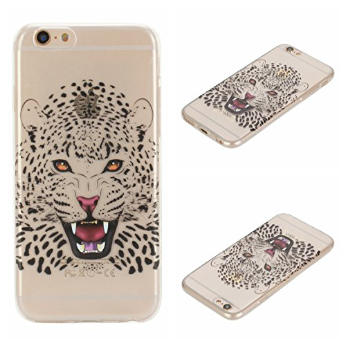 Voguecase® für Apple iPhone 6/6S 4.7 hülle, Schutzhülle / Case / Cover / Hülle / TPU Gel Skin (Mädchen im weißen Kleid 04) + Gratis Universal Eingabestift Weißer Leopard
