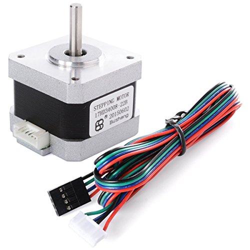 Nema 17 Motor Pasos 2 Fases 4 Cables 1.8° 42 × 42 * 34mm Para Impresora 3D