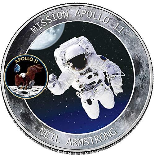 jkfui Collection Apollo Pouso NA Lua de Prata Moeda Comemorativa Presente 1