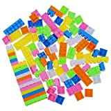 TOOGOO 96 Stueck Bunte Plastik Kinder Kind Puzzle Paedagogische Bausteine Bricks Gebaeude Spielzeug