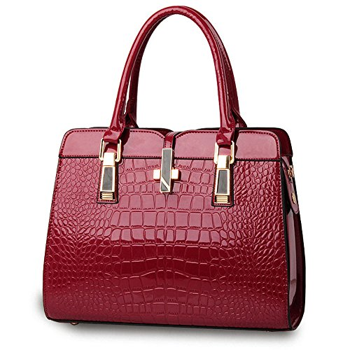 Anne, Borsa a mano donna rosso White Red Wine