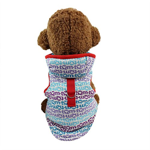 Ninasill ღ ღ Pet Kleidung mit Mütze Klein Puppy Kostüm Casual Medium Mehrfarbig (Halloween-kostüme Puppys Für)