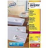 Avery L7159 Boîte de 2400 Etiquettes Autocollantes (24 par Feuille) - 63,5x33,9mm - Impression Laser - Blanc