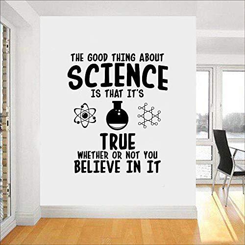 Baobaoshop Wissenschaft Chemie Vinyl Wandaufkleber Steuern Dekor Wohnzimmer wasserdichte Wandtattoo Labor Klassenzimmer Wand Schmücken Wandbild 56x67 cm (Schmücken Das Klassenzimmer)