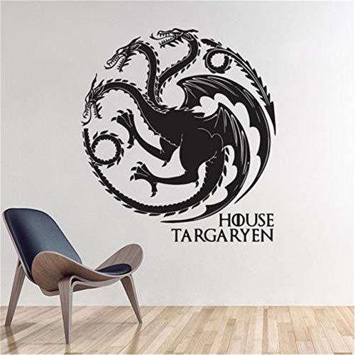 wandaufkleber selbst gestalten Game of Thrones Haus Targaryen Home Decor Tier Drachen Muster