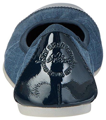 s.Oliver Damen 22118 Geschlossene Ballerinas Blau (NAVY COMB. 891)