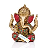 "Collectible India 5.5"" Lord Ganesha Brass Statue"