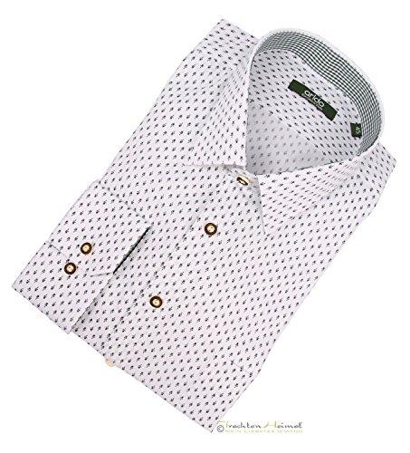 Trachtenhemd Herren Arido Kent Langarm weiß Gr.39
