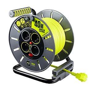 Enrouleur électrique 4 prises 40 mètres NF - câble H05VV-F 3G1.5