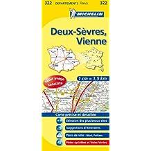 Carte DPARTEMENTS Deux-Svres, Vienne