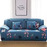 WATTA Stretch Elastische Sofa Schonbezug 2 Sitzer Sofa Sofa Couch Polyester Spandex Flamingos Druck Stoff Sofa Beschützer