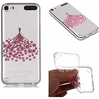 Preisvergleich für Yobby Durchsichtige Hülle für iPod Touch 5, iPod Touch 6 Ultra Dünn Schlank Kristall Handyhülle mit Blumen Muster...
