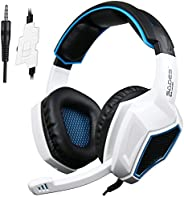 SADES Latest Version Ps4 Headphones,Sades SA920 3.5mm Stereo Bass Gaming Headset with Microphone for New Xbox
