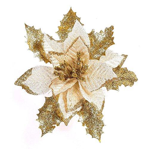 beautybouse Weihnachten Simulation Pailletten Blume Weihnachtsbaum hängende Dekoration Verzierung