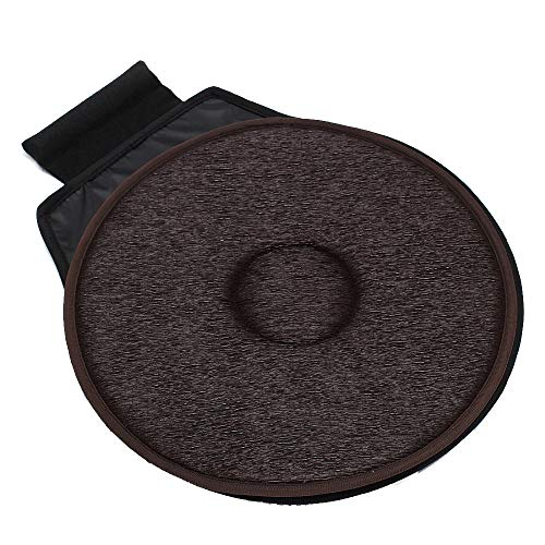 Forepin cuscino del seggiolino auto, rotazione a 360 ° rotante cuscino del sedile girevole, design flessibile per uso domestico sedia da ufficio, diametro 40 cm marrone