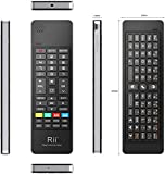 Rii K13 Multifunction QWERTY Air Mouse Wireless Keyboard IR Remote Learning Remote and Rechargable Li-ion Battery for Smart TV,Raspberry PI, MacOS,Linux, Android,XBMC,Windows 2000 XP Vista 7 8(Black,UK Layout)