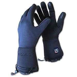 Charly LI-ION FIRE Plus, beheizbare Handschuhe/elektrisch beheizte Unterziehhandschuhe mit Akku, Windstopper