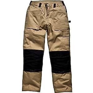"""Dickies Wd4930 Gdt290 Pantalon Vert kaki/noir 33 (longueur 34"""")"""