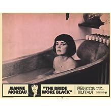 The Bride Wore negro Póster de película C 11x 14en–28cm x 36cm Jeanne Moreau Claude Rich Jean-Claude Brialy Michel ramo Michael (Michel) Lonsdale Charles Denner